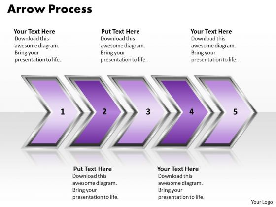Ppt Arrow Writing Process PowerPoint Presentation 5 State Diagram Style 2 Templates