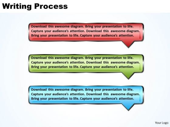 Ppt Arrow Writing Process PowerPoint Presentation Using 3 Rectangles Templates