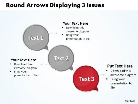 Ppt Arrows Download PowerPoint Layouts Stagesdisplaying 3 Issues Templates