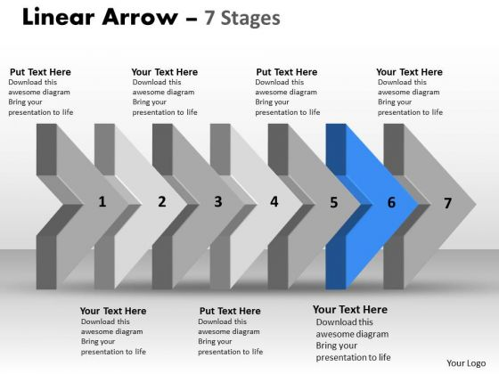 Ppt Background 3d Arrow Representing Constant Steps 7 Graphic