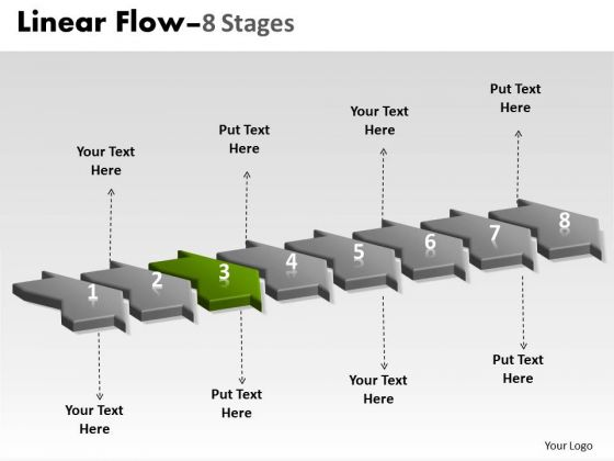Ppt Background 3d Illustration Of 8 Steps Working With Slide Numbers Marketing Plan 4 Graphic