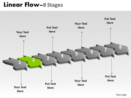 Ppt Background 3d Illustration Of 8 Steps Working With Slide Numbers Marketing Plan Graphic