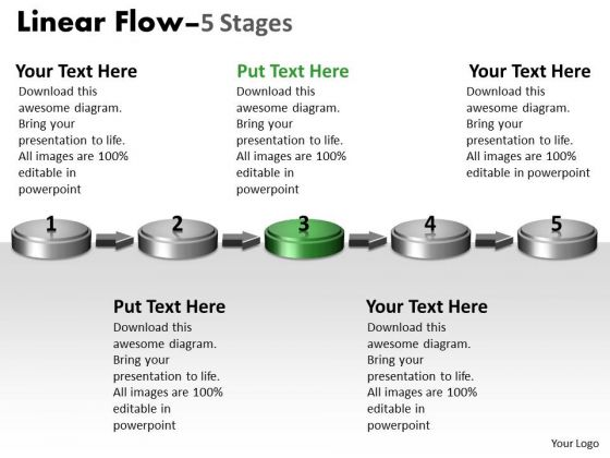 Ppt Background 3d Non-linear PowerPoint Flow Five Create Macro Diagram 4 Design