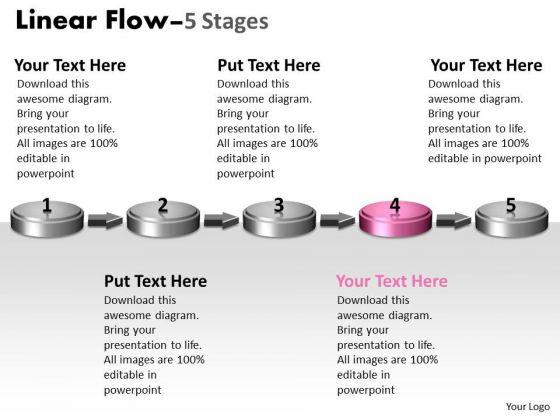 Ppt Background 3d Non-linear PowerPoint Flow Five Create Macro Diagram 5 Design