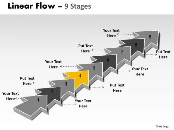 Ppt Background 9 Stages Linear Means Free Fishbone Diagram PowerPoint Template 5 Graphic