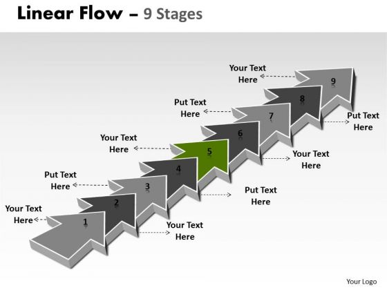 Ppt Background 9 Stages Linear Means Free Fishbone Diagram PowerPoint Template 6 Graphic