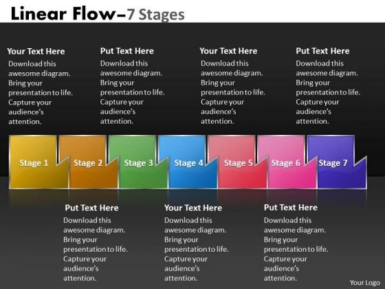 Ppt Background Multicolored Sequential Marketing Flow Corporate Plan PowerPoint 1 Design