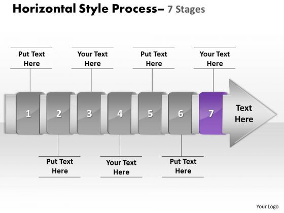 Ppt Background Non-linear PowerPoint Demonstration Of 7 Stages Activity 8 Image