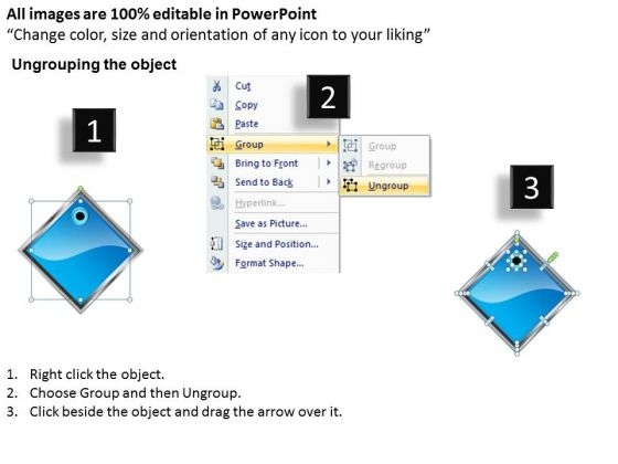 ppt_blue_diamond_linear_writing_process_powerpoint_presentation_7_stages_templates_2