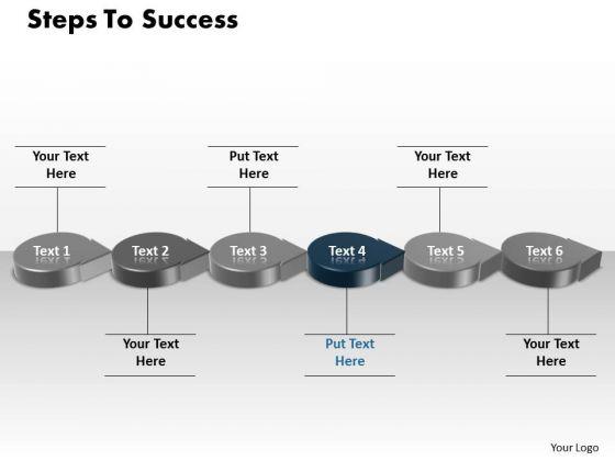 Ppt Blue Step To Success Using Circular PowerPoint Menu Template Arrow Templates