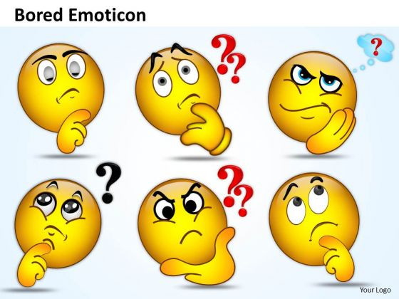 Ppt Bored Emoticon Illustration Picture Business Management Business PowerPoint Templates