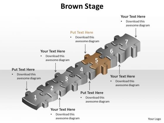 Ppt Brown Success Step PowerPoint Templates