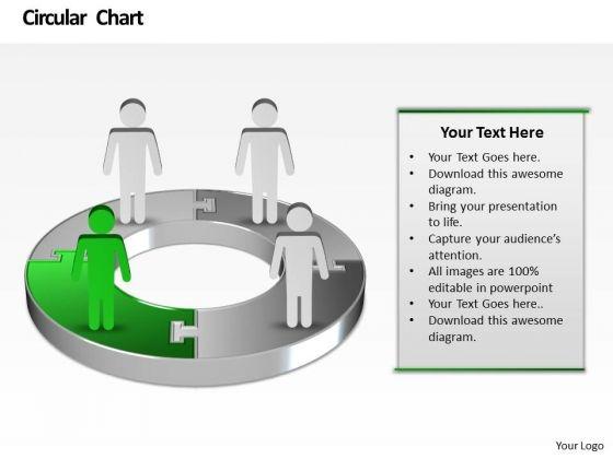 Ppt Business Men Standing Onl Pie Chart Birthday Presentation PowerPoint Templates