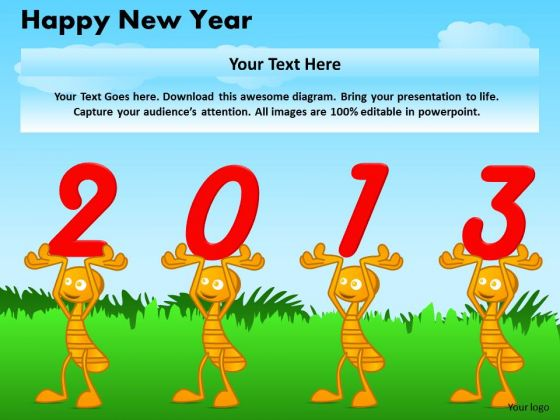 Ppt Cards And Dices Happy New Year Business Communication PowerPoint Templates