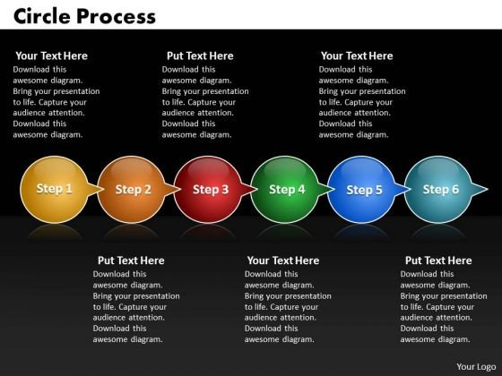 Ppt Circle Arrow 6 PowerPoint Templates