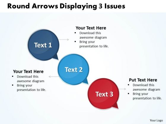 Ppt Circle PowerPoint Presentation 3d Arrows Displaying Issues Templates