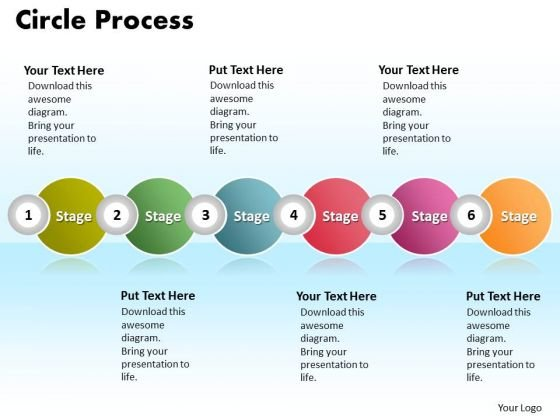 ppt circle procurement process powerpoint presentation 6 phase