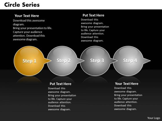 Ppt Circle Series Through Bubbles 4 PowerPoint Slide Numbers Templates