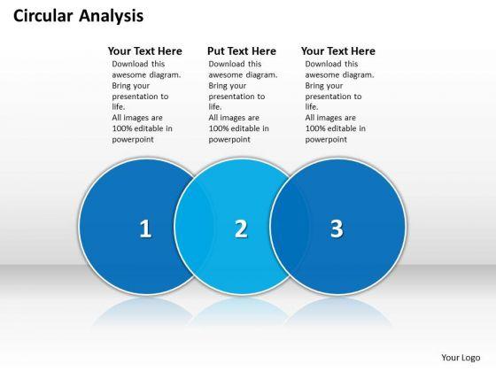 Ppt Circular Analysis Of 3 Phase Diagram Describing Process PowerPoint Templates