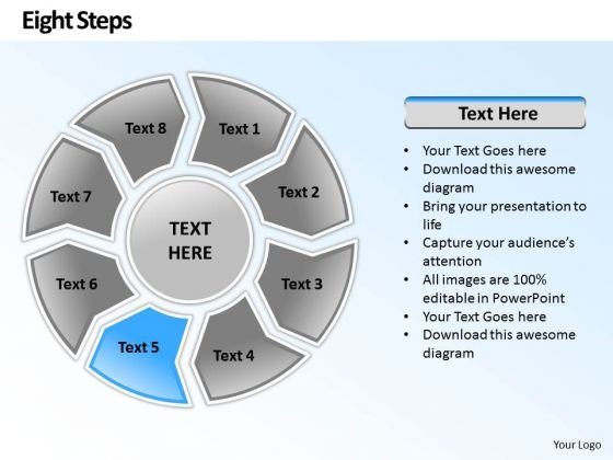 Ppt Circular Frame 8 Steps PowerPoint Templates