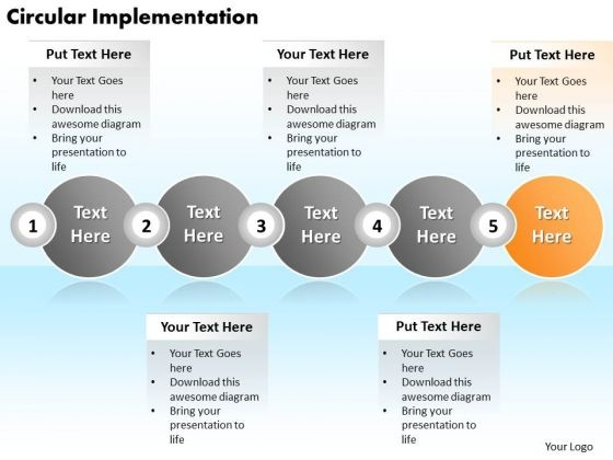 Ppt Circular Implementation Of 5 Create PowerPoint Macro Involved Procedure Templates