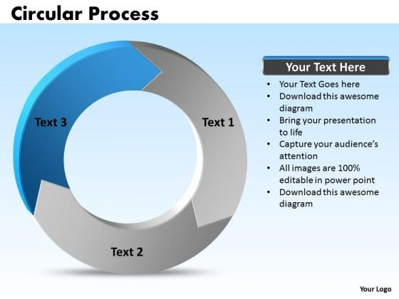 Ppt Circular Information Flow Process PowerPoint Slides Model 3 Stages Templates