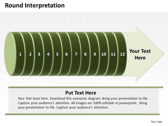 Ppt Circular Interpretation Of 12 Steps Involved Procedure PowerPoint Templates