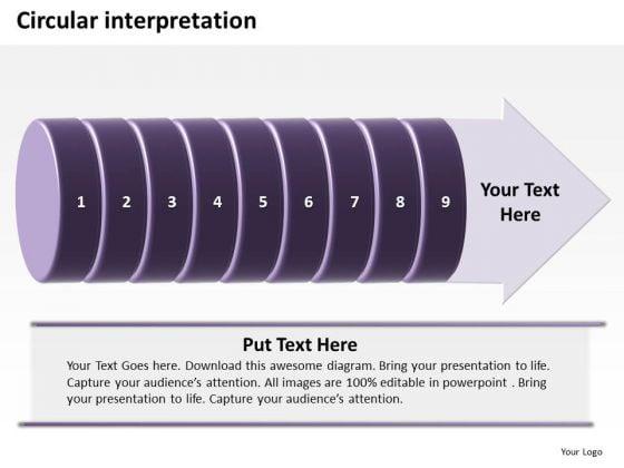 Ppt Circular Interpretation Of 9 Steps Involved Procedure PowerPoint Templates