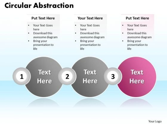 Ppt Circular Motion PowerPoint Abstraction Of Three Text Boxes Templates