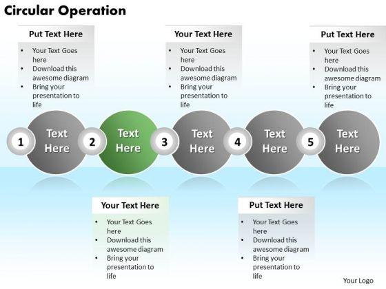 Ppt Circular Operation Of 5 Steps Involved Procedure PowerPoint Templates