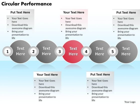 Ppt Circular Performance Of 5 Steps Involved Procedure PowerPoint Templates