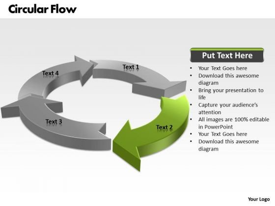 Ppt Circular PowerPoint Menu Template Flow Process Model 4 State Diagram Templates