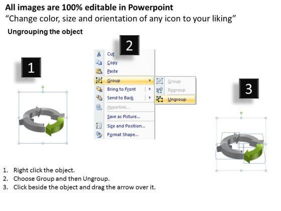 ppt circular powerpoint menu template flow process model 4 state, Modern powerpoint