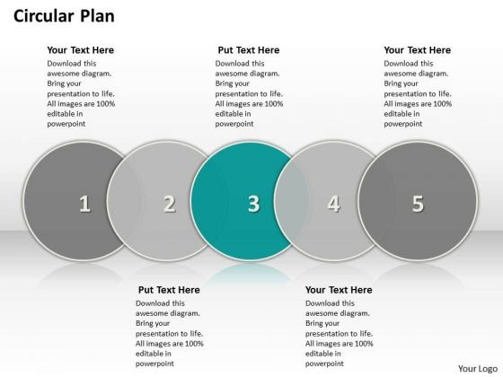 Ppt Circular PowerPoint Menu Template Flow Showing 5 Steps Involved Process Templates