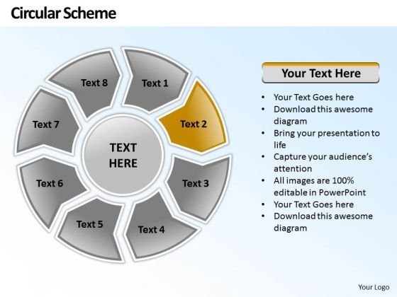 Ppt Circular PowerPoint Menu Template Scheme 8 Phase Diagram Templates