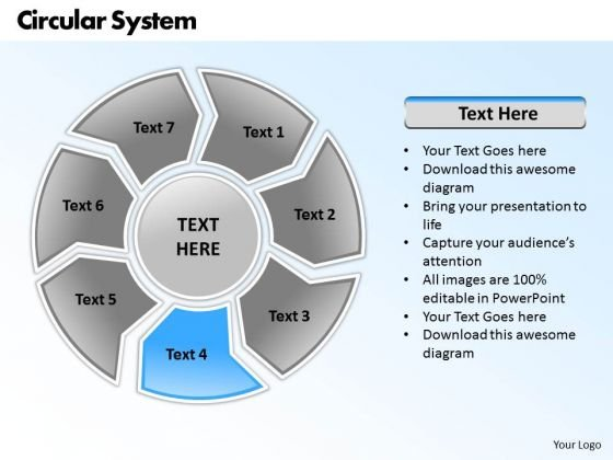 Ppt Circular PowerPoint Menu Template System 7 State Diagram Templates