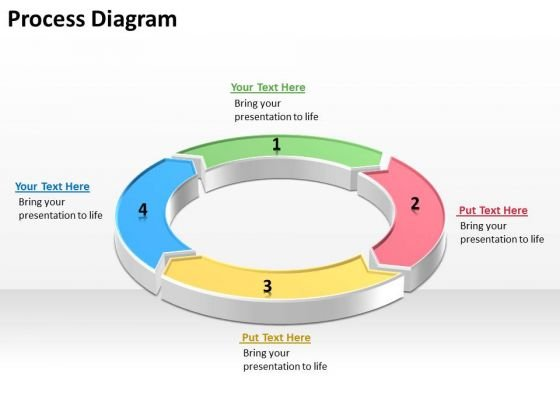 Ppt Circular Process Diagram PowerPoint Template With 4 Steps Templates
