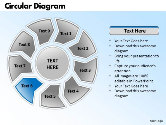 Ppt Circular Process Ishikawa Diagram Powerpoint Template Business