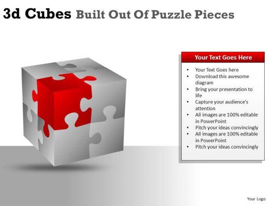 Ppt Clipart Graphics 3d Cubes Editable PowerPoint Slides