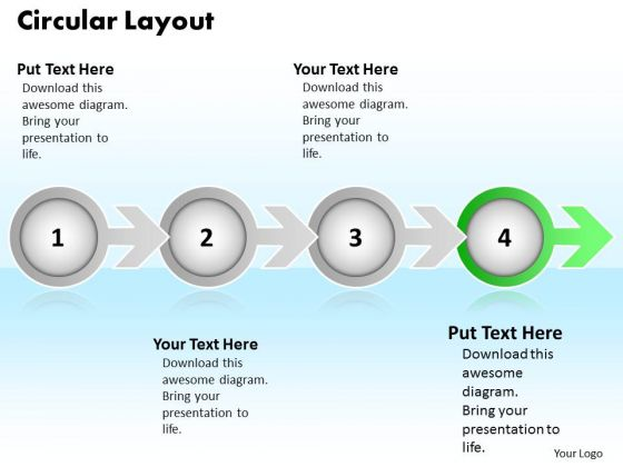 Ppt Colorful Arrow And Circular Layout 4 Phase Diagram PowerPoint Templates