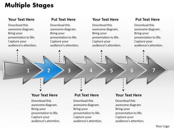 Ppt Colorful Arrows PowerPoint Slide Text Explaining Seven Aspects Templates