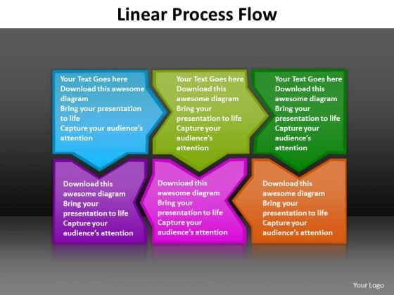 Ppt Colorful Puzzle Pieces PowerPoint 2007 Connected Linear Process Flow Templates