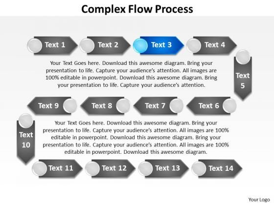 Ppt Complex Flow PowerPoint Theme Process Layout Templates
