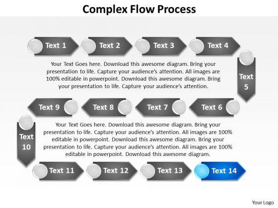 Ppt Complex Flow Process Charts Powerpoint Slides Templates