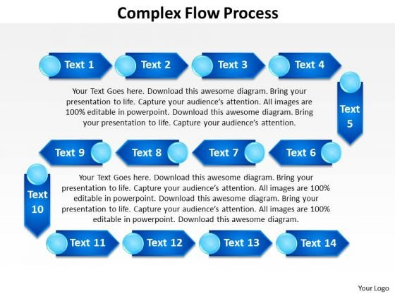 Ppt Complex Flow Process Network Diagram PowerPoint Template Templates