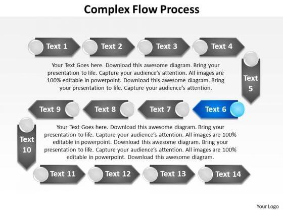 Ppt Complex Flow Process Social Network PowerPoint Presentation Templates