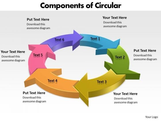 Ppt Components Of Circular PowerPoint Menu Template Process Templates