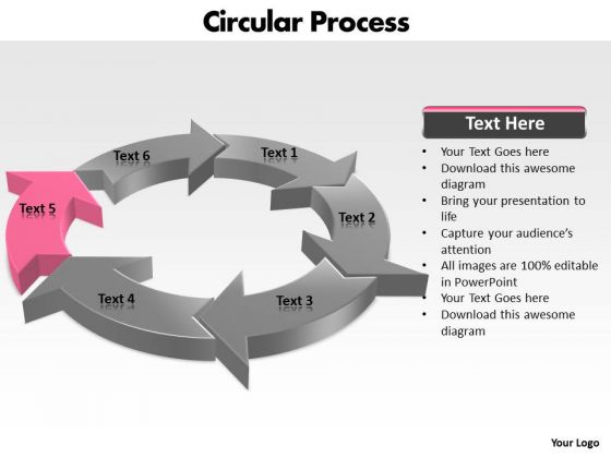 Ppt Components Of Circular Process Layout PowerPoint Templates