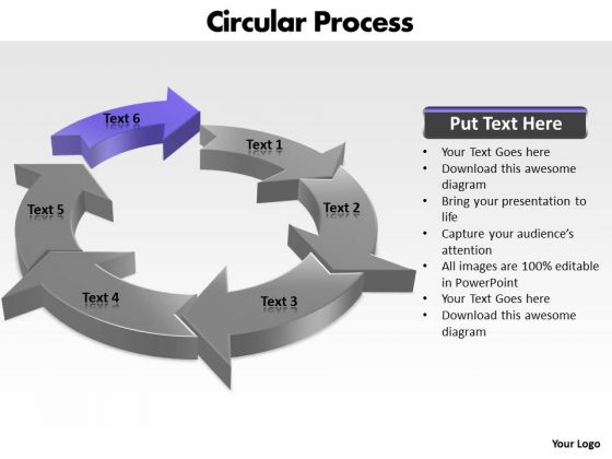 Ppt Components Of Circular Process PowerPoint Design Download 2010 Templates