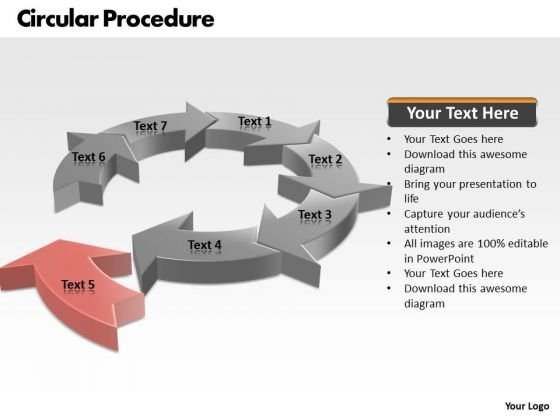 Ppt Concepts Of Circular Process PowerPoint Presentation 7 Stages Templates